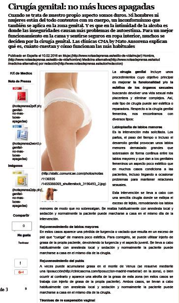 Cirugía genital: no más luces apagadas