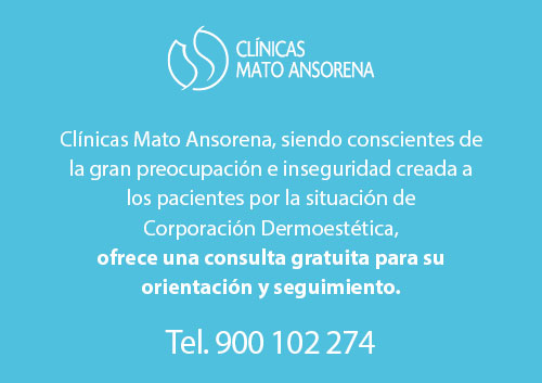 Cita Gratuita pacientes afectados Corporación Dermoestética