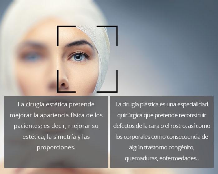Diferencias entre cirugía estética y plástica