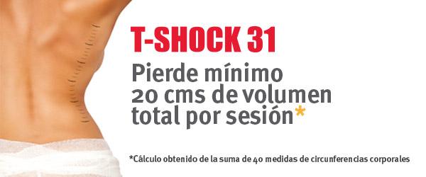 Reducir volumen corporal con T-shock